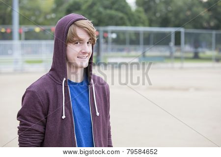 Portrait Of A Young Man In A Hoodie