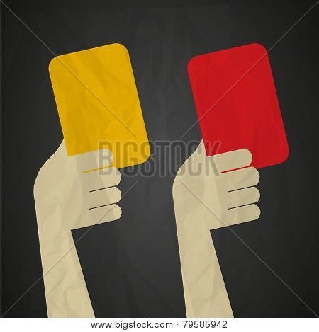 Referee red yellow cards