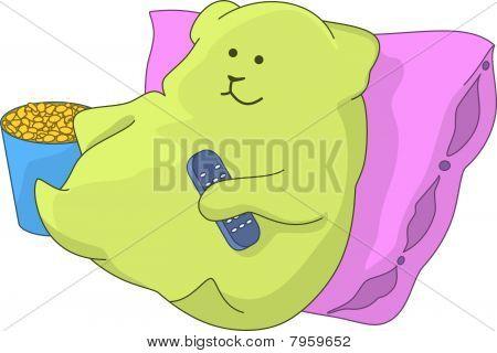 Green Televiewer-pillow