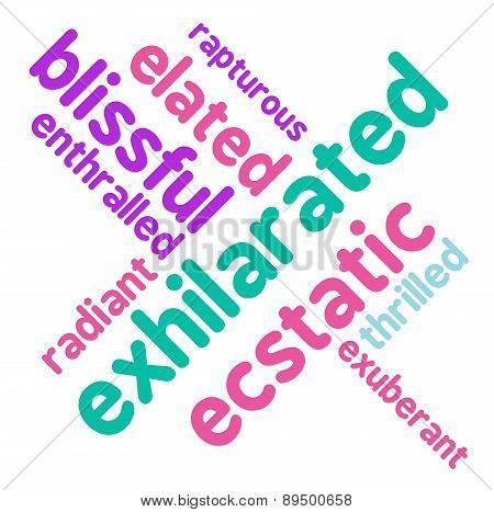 Exhilarated Word Cloud