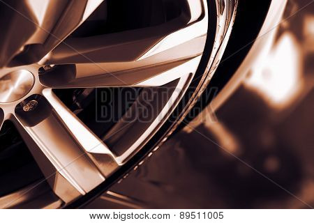 Alloy Car Wheel Closeup