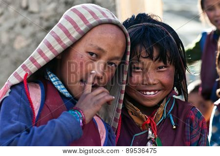 Tibetan Children, Nepal