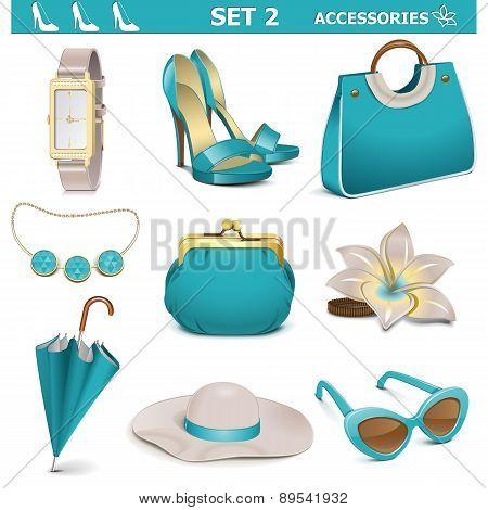 Vector Female Accessories Set