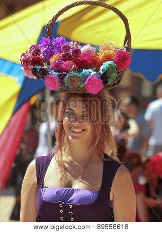 A Flower Girl At The Arizona Renaissance Festival