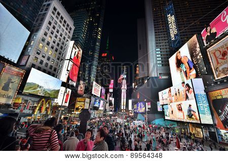 New York Times Square At Night