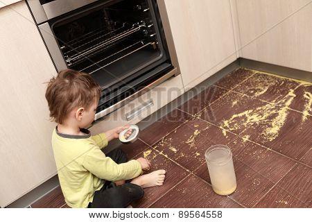Child Spilling Cereal
