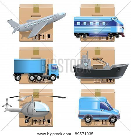 Vector Shipment Icons