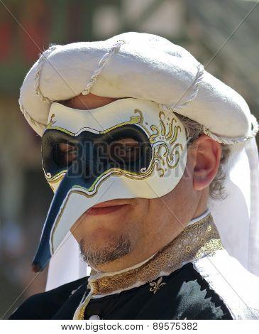 A Masked Man At The Arizona Renaissance Festival