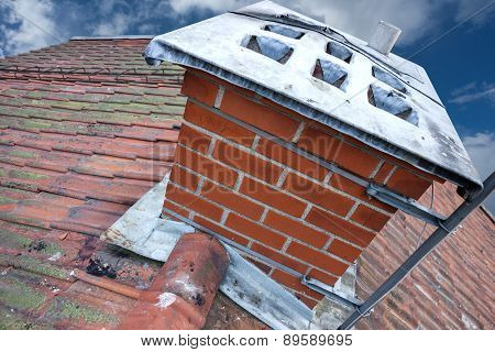 Chimney On Tiled Roof