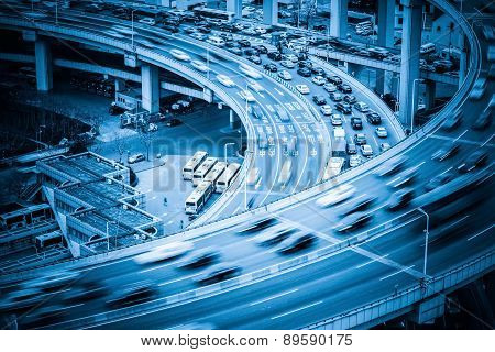 Heavy Traffic On Viaduct