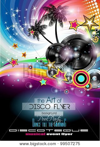 Club Disco Flyer Set with LOW POLY DJs and Music backgrounds. A lot of diffente style flyer for your techno, hip hop, electro or metal  music event Posters and advertising printed material.