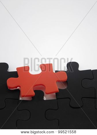 matching piece of the jigsaw puzzle