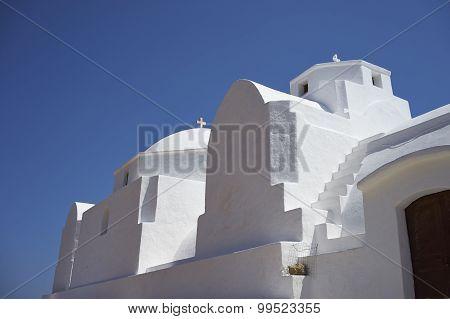 White Church On Folegandros