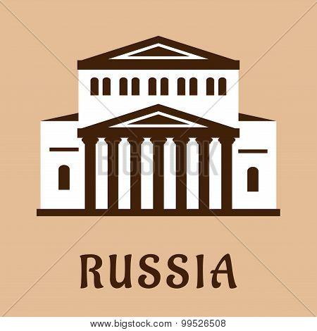 Russian Grand Theater flat icon