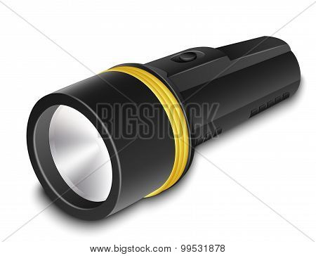Vector Flashlight On A White Background