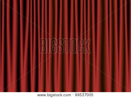 Red And Black Theater Curtain