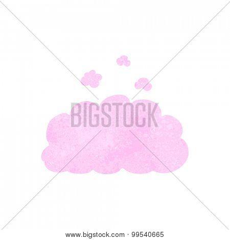 retro cartoon fluffy pink cloud poster