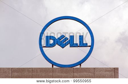 Dell Logo At The Roof Of The Dell Office In Amsterdam