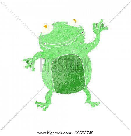 retro cartoon frog