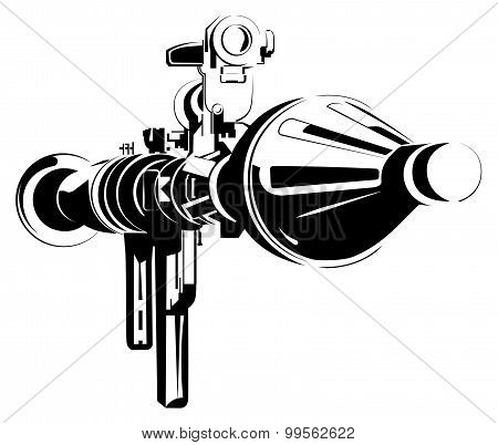 Anti-tank bazooka color rpg isolated on white