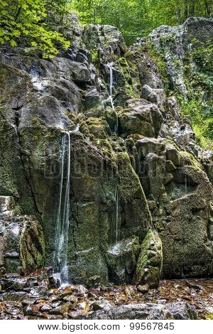 Waterfall On Overall Run Falls Trail In Shenandoah National Park