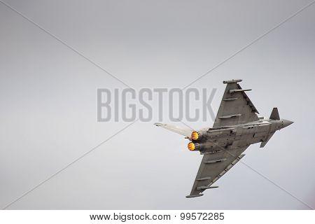 Radom, Poland - August 23: Italian Efa-2000 Eurofighter Typhoon Demo Display Team During Air Show 20