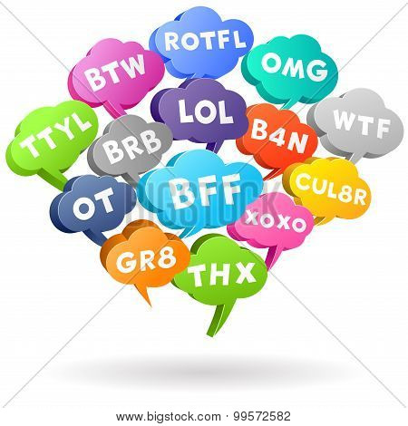 Acronym Chat Speech Bubbles
