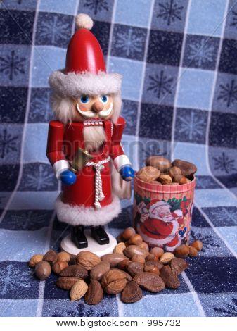 Santa Nutcracker With Nuts