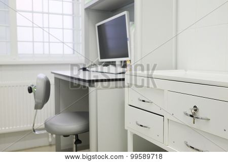 Interior of a doctor's office