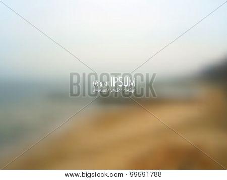 Vector blurred background - Seaside