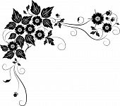 element for design flower illustration corner decor poster