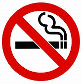 Wordless no smoking sign, isolated poster