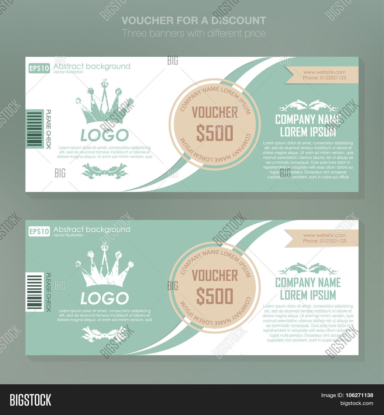 gift voucher template vector photo free trial bigstock