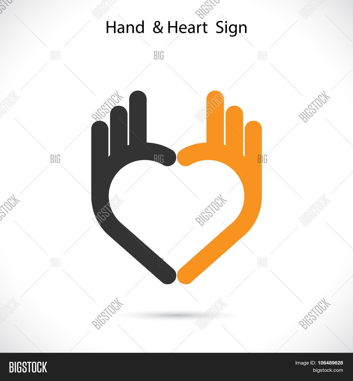 Creative Hand Heart Vector Photo Free Trial Bigstock