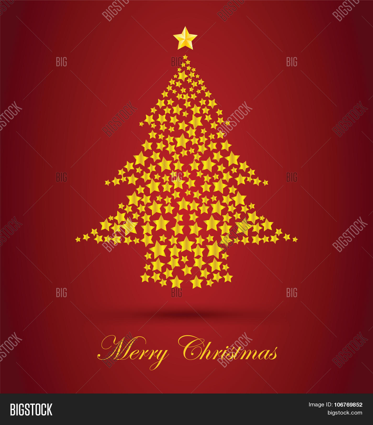 Gold Christmas Tree Vector Photo Free Trial Bigstock