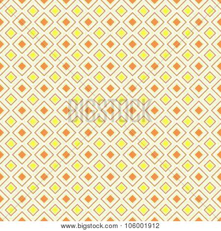 Abstract geometric diamond shape seamless pattern, vector