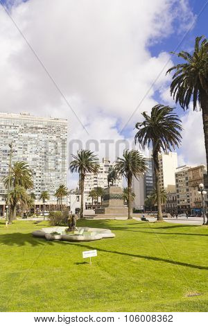 The City Center Of Montevideo, Uruguay