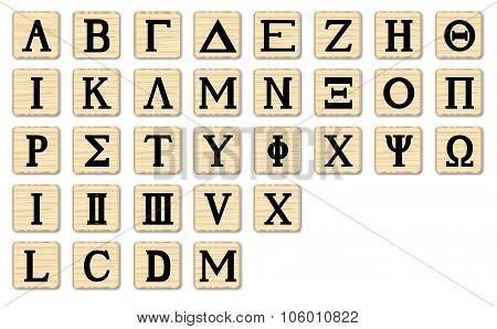 Wooden Alphabet Letters