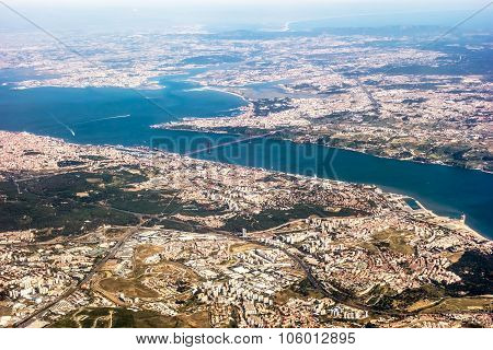 View Over Lisbon - Aerial View