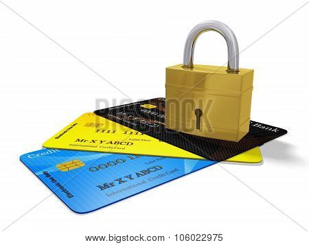 Security Pad Lock On Credit Cards