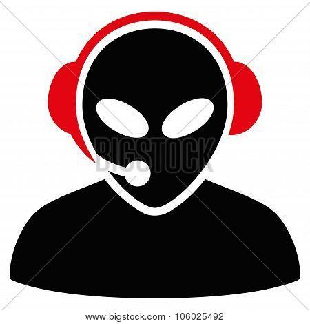 Alien Call Center Flat Icon