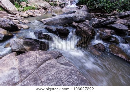 Mae Ya Waterfall In Doi Inthanon National Park, Chiangmai Thailand