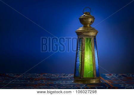 Ramadan Lantern Over Blue