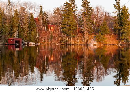 Colourful Reflects On A Lake