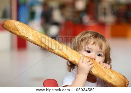 Boy With French Bread