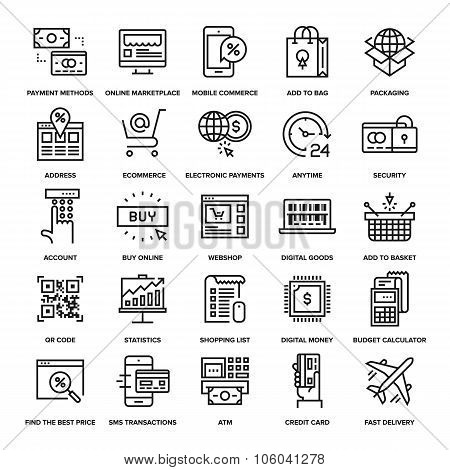 Digital Commerce Icons
