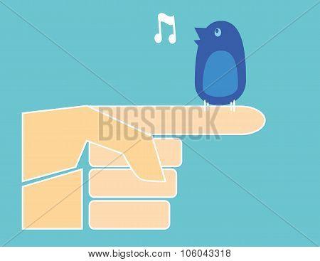 Bird on a Finger