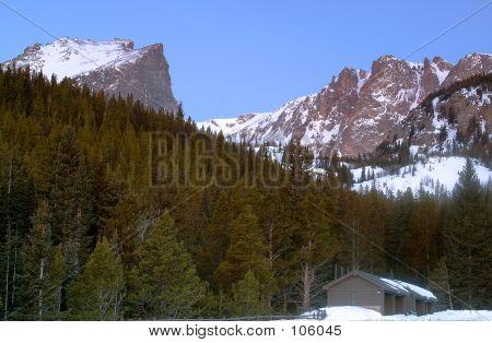 Hallet Peak And Flattop Mountain