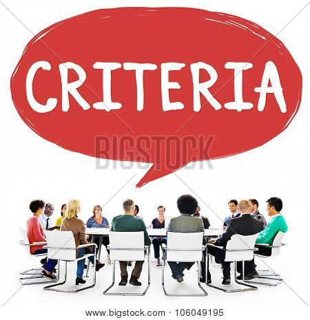Criteria Controlling Follow Guidelines Conduct Concept poster