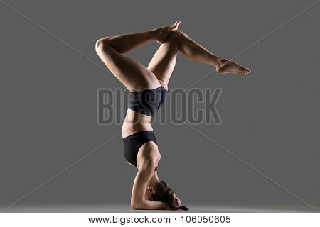 Headstand With Bent Legs